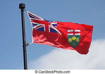 Ontario Provincial Flag - Flag of the Province of Ontario...
