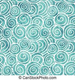 Blue swirls pattern