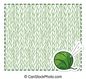 Green knitting background
