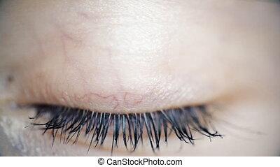 blinking eye close-up - FullHD video od blinking eye...
