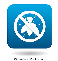 No fly sign icon, simple style - No fly sign icon in simple...