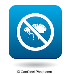 No flea sign icon, simple style - No flea sign icon in...