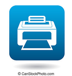 Printer icon in simple style on a white background