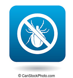 No bug sign icon, simple style - No bug sign icon in simple...