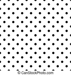 Tile pattern with black polka dots