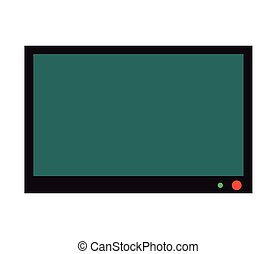 flat screen tv icon - flat design flat screen tv icon vector...