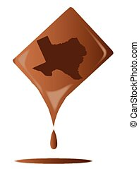 Chocolate Bar Texas - A typical bar of milk Chocolate...