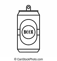Aluminum can icon, outline style - Aluminum can icon in...