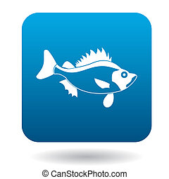 Ruff fish icon, simple style - Ruff fish icon in simple...