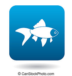 Goldfish icon, simple style - Goldfish icon in simple style...
