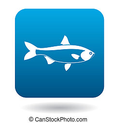 Salmon fish icon, simple style - Salmon fish icon in simple...