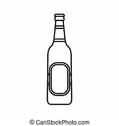 Bottle of beer icon, outline style - Bottle of beer icon in...