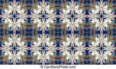 Abstract kaleidoscope looping backg - Abstract digital...