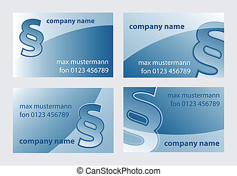 law backgrounds - business card templates with paragraph...