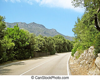 Rural road in the mountains - rural road in the mountains,...