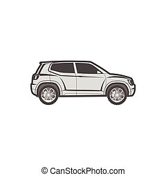 suv modern off-road, sport utility crossover vector