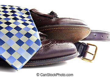 Business attire: Tie, shoes and belt