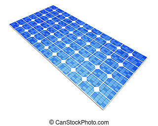 Solar Panel - 3D rendered Illustration A single solar panel,...
