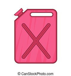 Flask for gasoline icon, cartoon style - Flask for gasoline...