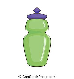 Flask for water icon, cartoon style