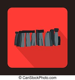 Stonehenge icon in flat style - icon in flat style on a...