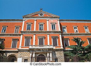 Seminary palace. Molfetta. Puglia. Italy.