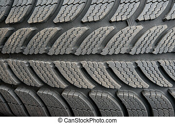 Car tire close up