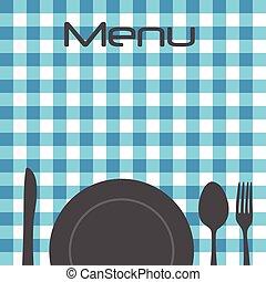 restaurante, menu
