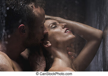 You make me feel wonderful! - Handsome man kissing and...