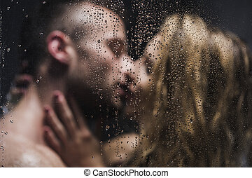 Nobody is kissing like you - Blurred image of a sexy pair...