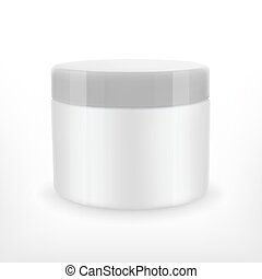 Cream jar mock-up. EPS10 vector