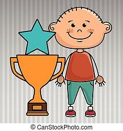 boy trophy star icon