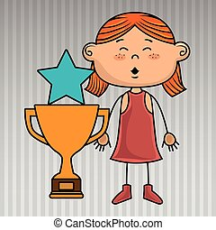 girl trophy star icon