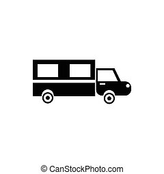 Hearse icon in simple style - icon in simple style on a...