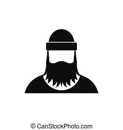 Lumberjack icon in simple style - icon in simple style on a...