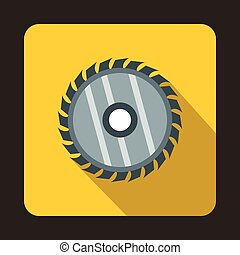 Drive for saw icon, flat style