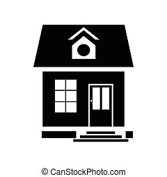 Little house icon, simple style