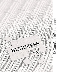 Unfinished Business - Unifnished business puzzle on stock...