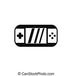 Portable video game console icon, simple style