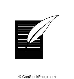 Testament icon in simple style on a white background