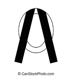 Memorial wreath icon, simple style - Memorial wreath icon in...