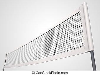 Volleyball Net - A 3D render of a regular volleyball net on...