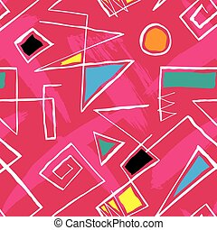 Retro 1980s Pattern - Vibrant and colourful pattern inspired...