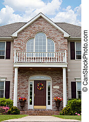 Luxury Home Entrance - The front entrance of a large custom...