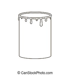 Paint can illustration on the white background Vector...
