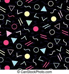 Retro 1980s Style Pattern - Vibrant and colourful pattern...