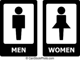 Restroom Sign set for your design