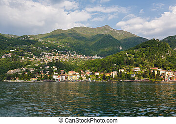 Cityscape of Varenna, Italy - Cityscape of Varenna at Lake...