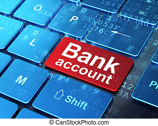 Money concept: Bank Account on computer keyboard background...