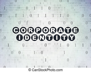 Finance concept: Corporate Identity on Digital Data Paper background